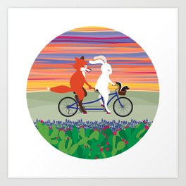 Hill Country Joyride Art Print