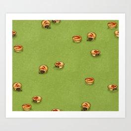 Adelaide Pie Floater, extra mushy peas please Art Print