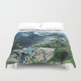 Mountain through the clouds Duvet Cover