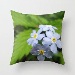 USA - MINNESOTA - Forget-me-nots Throw Pillow