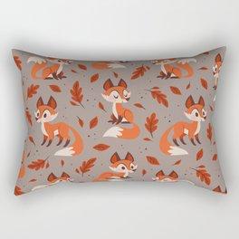 Cute Foxes Rectangular Pillow