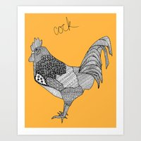 cock Art Prints featuring Cock by lush tart