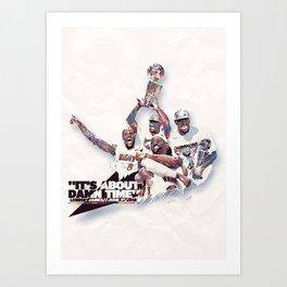 Lebron//NBA Champion 2012 Art Print