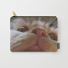 Funny Cute Cat Macro Eyes Carry-All Pouch