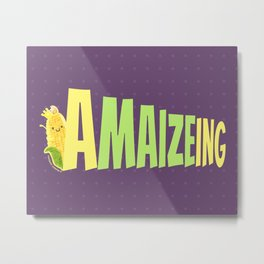 Amaizeing - Punny Garden Metal Print