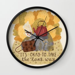 Take the Long Way Wall Clock