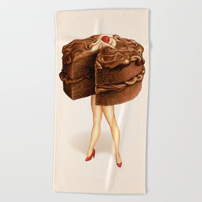 Cake Girl - Chocolate Beach Towel
