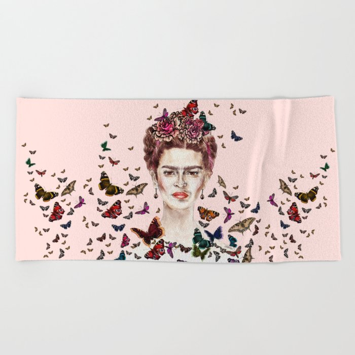 Frida Kahlo - Mexico Beach Towel