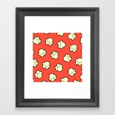 Popcorn Pattern Framed Art Print