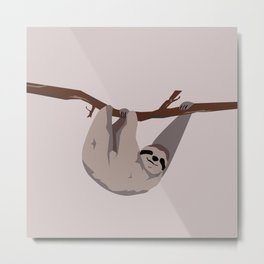 Sloth just hangin' Metal Print
