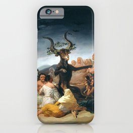 Witches Sabbath by Francisco Goya iPhone Case
