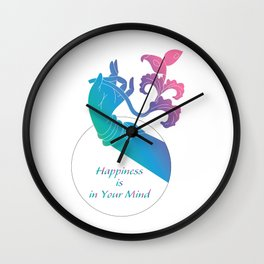 Happiness is in Your Mind_Rainbow Hand of Dance Wall Clock