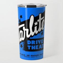 Starlite Drive-In Niagara Falls in Blue Travel Mug