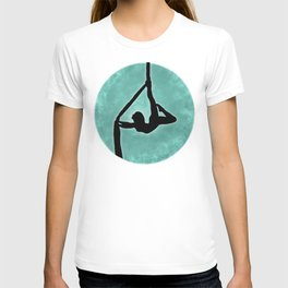 Aerial Silhouette on Paint T-shirt