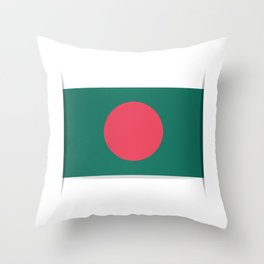Flag of Bangladesh. The slit in the paper with shadows.  Throw Pillow