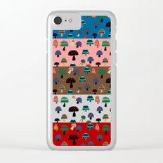 Mushroom patchwork Clear iPhone Case