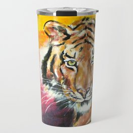 Awaiting the Darkness of Night (Male Tiger) Travel Mug