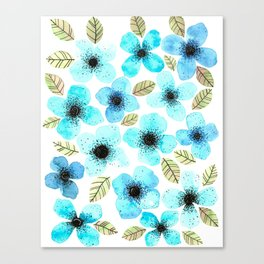 Lilly Blue Canvas Print