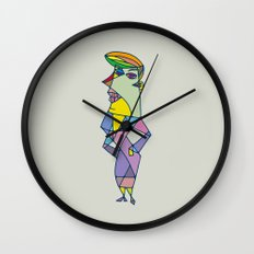 Miss Gare Wall Clock