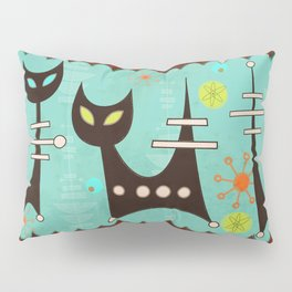 Atomic Cats Pillow Sham