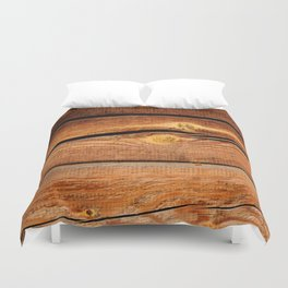 Rustic Wooden Planks  Wood Board Country Gifts Duvet Cover