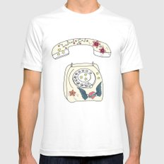 Phone love Mens Fitted Tee White SMALL
