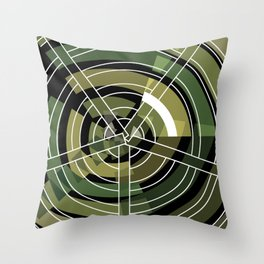 Exploded view camouflage Throw Pillow