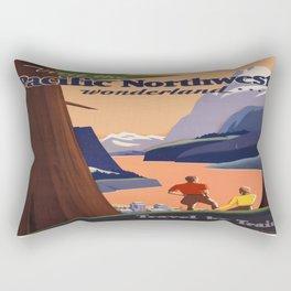 Vintage poster - Pacific Northwest Rectangular Pillow