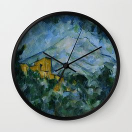 Paul Cezanne - Mont Sainte-Victoire and Chateau Noir Wall Clock