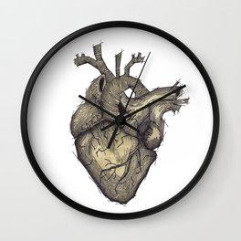 Stone Heart Wall Clock