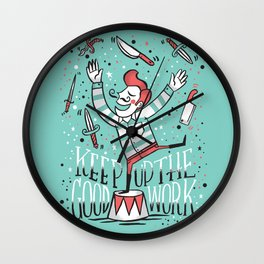 All up in the air Wall Clock