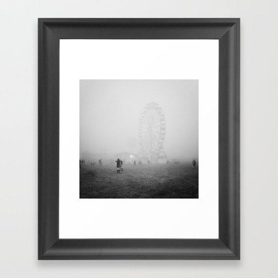 Hazy Ferris Wheel Framed Art Print