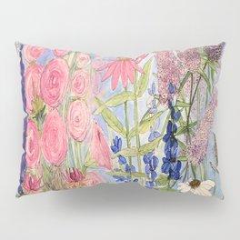 Flowers Garden Acrylic Painting Pillow Sham