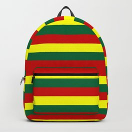 red green yellow stripes Backpack
