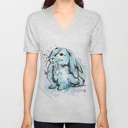 Blue rabbit Unisex V-Neck