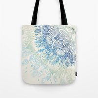 dahlia Tote Bags featuring Dahlia by rskinner1122