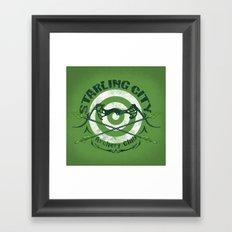 Bullseye Framed Art Print