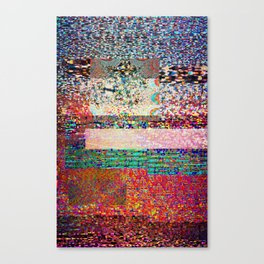 GLITCH 6 - I think I saw you on tv Canvas Print