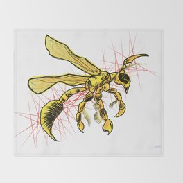 The Wasp Throw Blanket