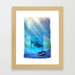 Come with us Framed Art Print