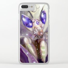 Jeweled Flower Mantis Clear iPhone Case