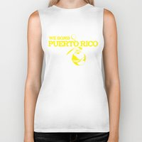 puerto rico Biker Tanks featuring We Bomb Puerto Rico by Grime Lab