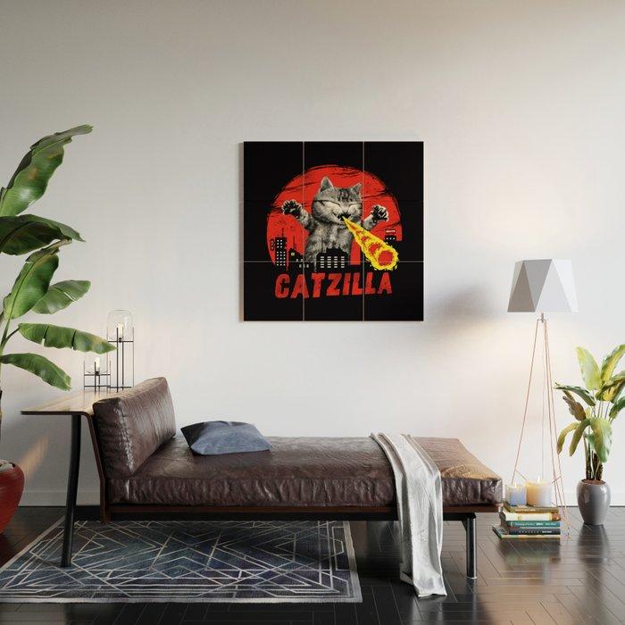 Catzilla Wood Wall Art