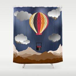 Balloon Aeronautics Rain Shower Curtain
