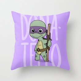 TMNT: Donatello (Cute & Dangerous) Throw Pillow