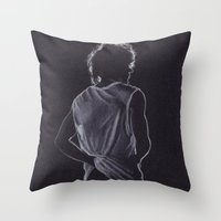 louis tomlinson Throw Pillows featuring Louis Tomlinson by Jen Eva