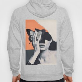 collage art / butterfly Hoody