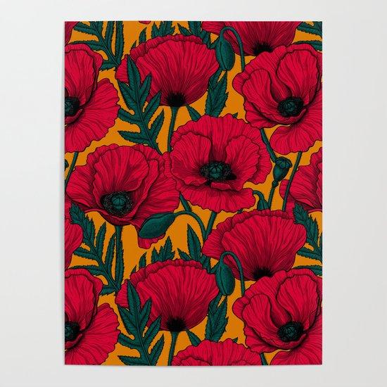 Red poppy garden    by katerinamitkova