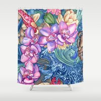 orchid Shower Curtains featuring Orchid Splash by Vikki Salmela