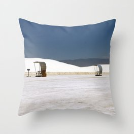 Picknick At White Sands Throw Pillow